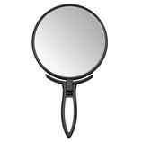 【お買い得】 10倍拡大鏡付きミラー ハンド&スタンド折立ハンド│メイク道具・化粧雑貨 手鏡・卓上ミラー