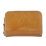 SNOOPY Leather Collection 蝶ネクタイ ドル入れ 92243 キャメル│財布・名刺入れ 小銭入れ