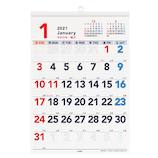 【2021年版・壁掛】エムプラン もじでかカレンダーA3 203421−01 日曜始まり