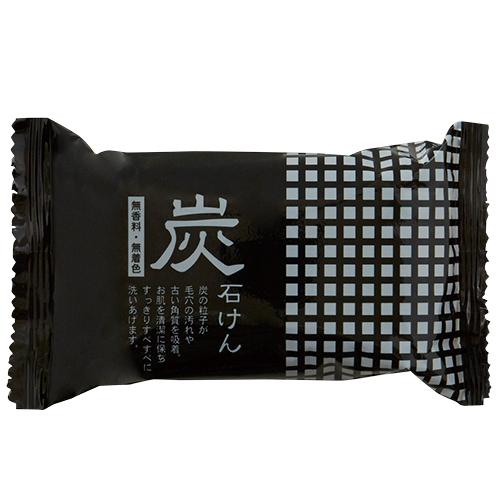【お買い得】 地の塩社 炭石けん 100g