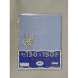 ホワイトローズ ペンシルストライプ ブルー 130×150
