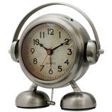 ビッグサウンド フットベル目覚まし時計 アミーゴ アッシュシルバー