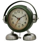 ビッグサウンド フットベル目覚まし時計 アミーゴ オリーブグリーン