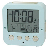 クレファー Wアラーム電波時計 IAC-5637-IGD ブルー