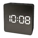 クレファー(CREPHA) ミラークロック IAC−5651 ブラック│時計 目覚まし時計