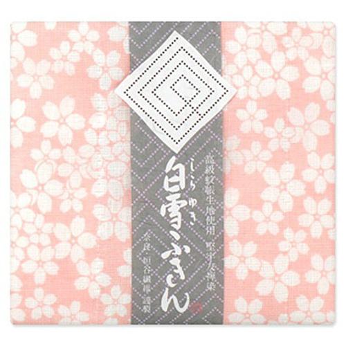 垣谷繊維 白雪 友禅染ふきん 桜 ピンク