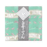 白雪ふきん 友禅 シンデレラ 30×40cm グリーン
