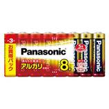パナソニック アルカリ乾電池単3形 LR6XJ 8SW 8個入