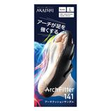 AKAISHI(アカイシ) アーチフィッター141 アーチクッションサンダル L ブラック 24~24.5㎝