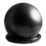 La-VIE(ラヴィ) リング付きジムボール 姿勢よしお ブラック│ダイエット・健康グッズ エクササイズ用品