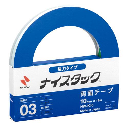 ニチバン ナイスタック 強力紙両面テープ nw-k10 10mm×18m