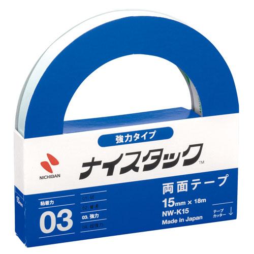 ニチバン ナイスタック 強力紙両面テープ nw-k15 15mm×18m