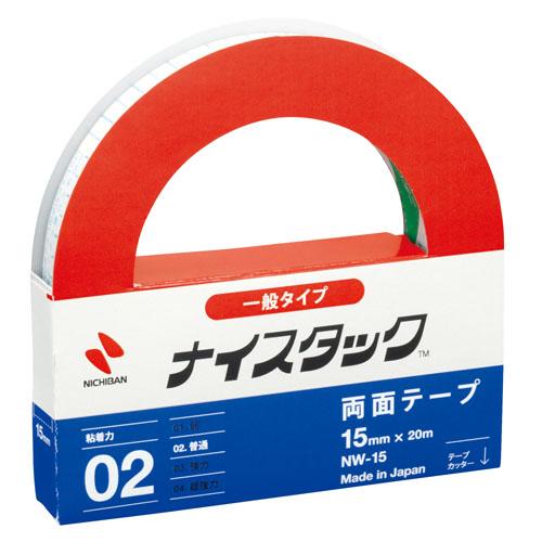 ニチバン ナイスタック 紙両面テープ 15mm×20m NW-15