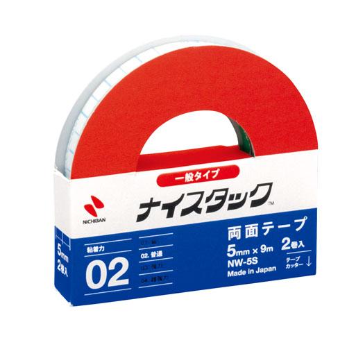 ニチバン ナイスタック 紙両面テープ 小巻2個セット 5mm×9m NW-5S