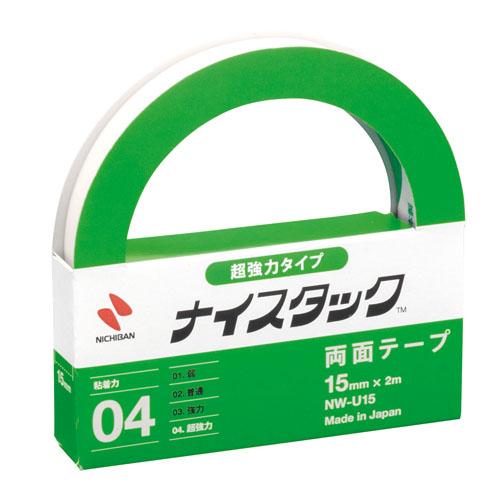ニチバン ナイスタック 超強力両面テープ 15mm×2m nw-u15