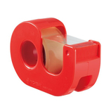 ニチバン セロテープ 小巻 カッターつき CT−18DRR レッド