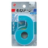 ニチバン セロテープ® 小巻カッターつき まっすぐ切れるタイプ CT−15DCS│ガムテープ・粘着テープ セロテープ