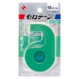 ニチバン セロテープ® 小巻カッターつき まっすぐ切れるタイプ CT−18DCG グリーン│ガムテープ・粘着テープ セロテープ