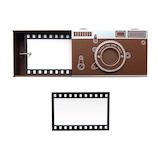 ハイタイド(HIGHTIDE) おもいで色紙帳 カメラ CL088 ブラウン