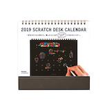 【2019年版・卓上】 ハイタイド(HIGHTIDE) スクラッチデスクカレンダー レインボー NH005