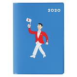 【2019年10月始まり】 ハイタイド(HIGHTIDE) 2020 ブロック A6 20NA−5 ブルー 月曜始まり