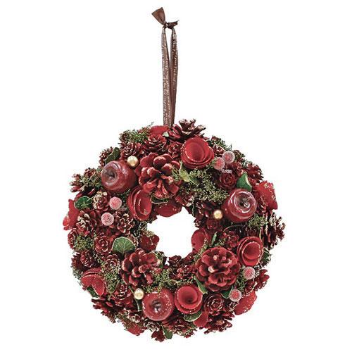 <東急ハンズ>【クリスマス】 クリスマスファクトリー グレイスリース クラシックローズ L 径25cm 4008550-02画像