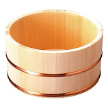 ヤマコー ひのき湯桶 銅タガ丸型 824632