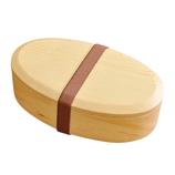 ヤマコー 白木くりぬき弁当箱 バンド付 オーバル