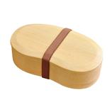 ヤマコー 白木くりぬき弁当箱 バンド付 ビーンズ│保存容器 パスタポット