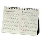 【2020年版・卓上】エトランジェ ディ コスタリカ 卓上カレンダー B6サイズ 2ヶ月 CLT‐H‐01 アイボリー