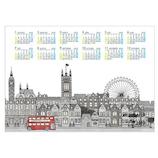 【2020年版・ポスター】エトランジェ ディ コスタリカ ポスターカレンダー A3サイズ CLP‐A3‐02 ロンドン
