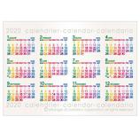 【2020年版・ポスター】エトランジェ ディ コスタリカ ポスターカレンダー B4サイズ CLP‐B4‐01 カラー