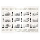 【2020年版・ポスター】エトランジェ ディ コスタリカ ポスターカレンダー B3サイズ CLP‐B3‐02 コンパクタ