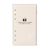 エトランジェディコスタリカ バイブル手帳用メモ 横罫 SBBRF-D-02 アイボリー
