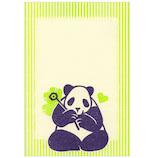 アクティブコーポレーション 梅屋レトロ印刷ポストカード 花パンダ PR-103