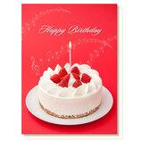 アクティブコーポレーション オルゴールカード バースデー E04-GV-42 ケーキ│カード・ポストカード バースデー・誕生日カード