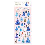 【クリスマス】 アクティブコーポレーション クリスマスペーパーシール ツリー CMS−587