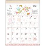 【2021年版・壁掛】 アクティブコーポレーション 壁掛けカレンダー 和風ハンドメイド ACL−19 花鳥風月