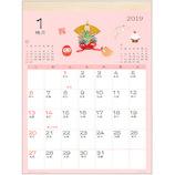 【2019年版・壁掛】アクティブコーポレーション 和風ハンドメイド 春夏秋冬 壁掛けカレンダー ACL−18