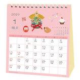 【2019年版・卓上】アクティブコーポレーション 和風ハンドメイド 春夏秋冬 卓上カレンダー ACL−552