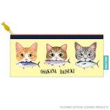 アクティブコーポレーション 猫部クリアポーチスリム_C03-ABE-51 San-biki イエロー