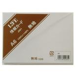 ライフ 情報カード J881 A6 無地 白