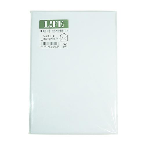 ライフ 洋封筒 角形7号 定形外 E543 白