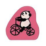 こどものかお がなはようこのどうぶつスタンプ 1680-005 パンダ自転車│スタンプ ラバースタンプ