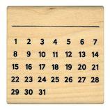 こどものかお 手帳はんこ部 カレンダー 0402−003│スタンプ ラバースタンプ