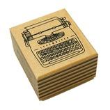 こどものかお THE STAMP S 3116−001 タイプライター│スタンプ ラバースタンプ