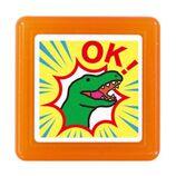こどものかお ティーチャー浸透印 0616−097 恐竜 OK!│スタンプ キャラクター浸透印