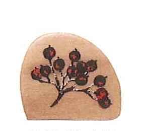 こどものかお 森のスタンプB 赤い木の実 0941-004
