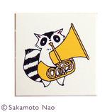 こどものかお 動物の楽団スタンプB 0951−006