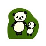 こどものかお パンダのスタンプ 0962−015